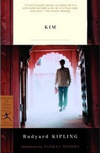 Kim by Rudyard Kipling (book cover)