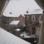 Snow in Salford, Manchester
