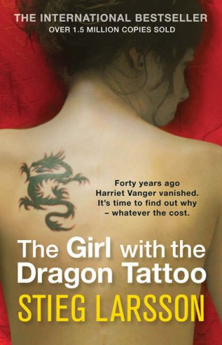 book cover for The Girl with the Dragon Tattoo by Steig Larsson