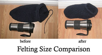 Felted Slipper comparison