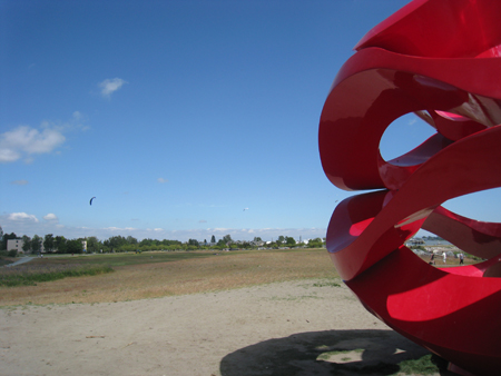 Wind Waves from the Vancouver Biennale Art installations