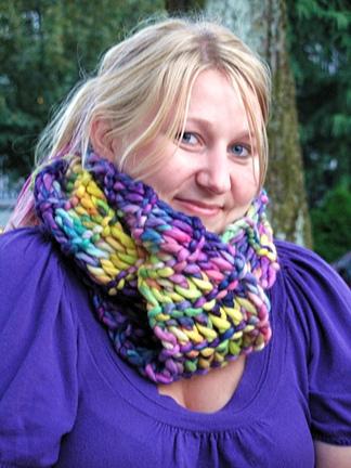 Modelling the Malabrigo Rasta scarf