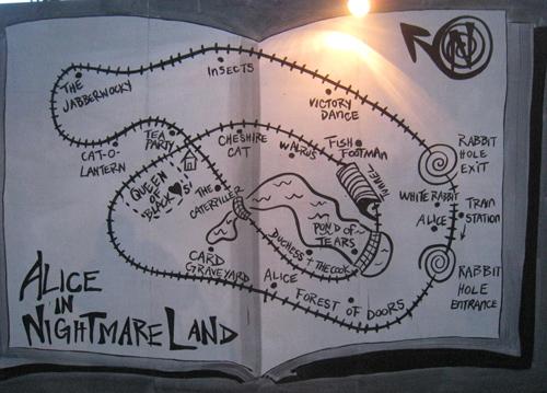 Alice in Nightmareland map