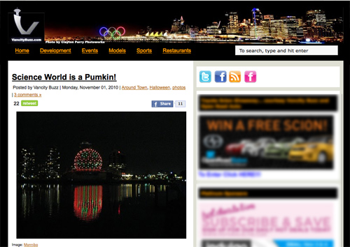 My photo is famous on VancityBuzz