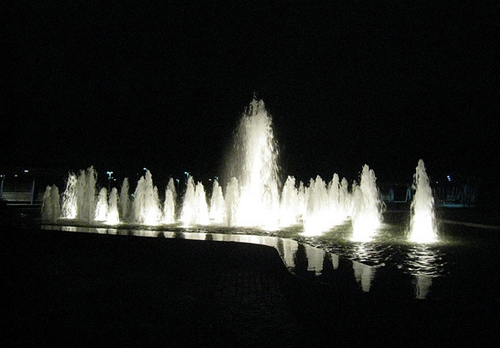 Fountains outside of the Bloedel Conservatory