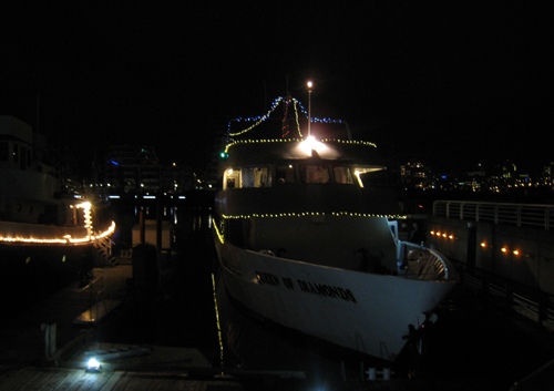 Queen of Diamonds, our vessel for the evening