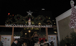 Entrance to the Vancouver Christmas Market in downtown