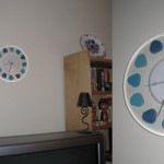 Beach Glass clock by Illuminati Glassworks
