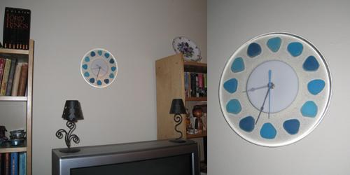 Beach Glass clock by Illuminati Glassworks