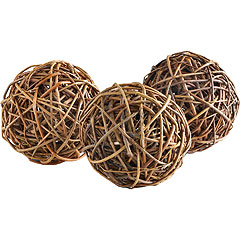 100% willow wood wicker balls (from Pier1)