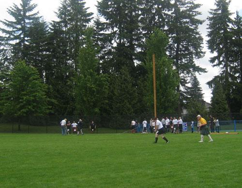 BC Highland Games 2011 - Women's Caber Toss