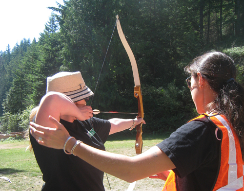 THE RANGE IS OPEN with archery instructor Patricia Gonsalves