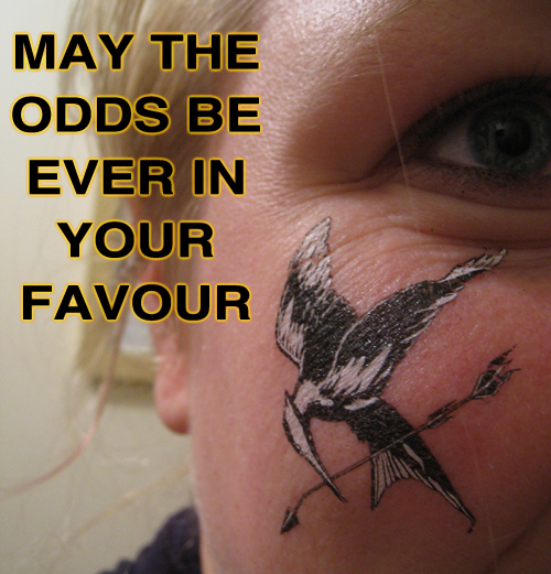 Mockingjay temporary tattoo ~ May the odds be ever in your favour ~ The Hunger Games