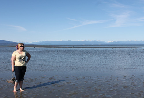 Me at Rathtrevor Beach, Parksville
