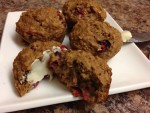 Cranberry Orange Muffins with Oats & Applesauce :: Recipe