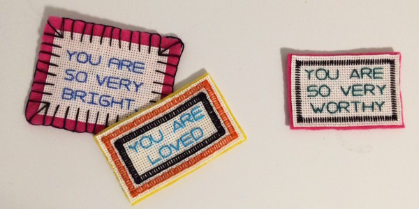 You Are So Beautiful—stitched affirmations by Betsy Greer