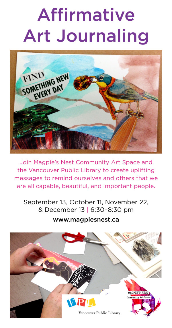 Art Journaling event poster