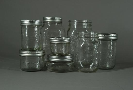 Variety of mason Jars